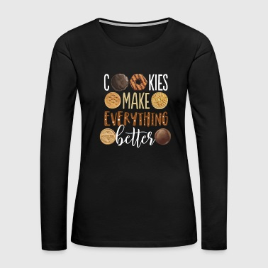 Wife Cookies Make Everything Better T Shirt Funny Christmas - Women's Premium Long Sleeve T-Shirt