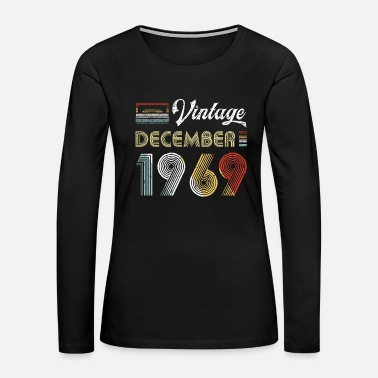 50th-birthday Vintage December 1969 50th Birthday 80s Style - Women's Premium Long Sleeve T-Shirt