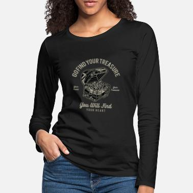 Metal Go Find Your Treasure You Will Find Your Heart - Women's Premium Longsleeve Shirt