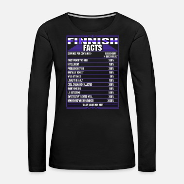 Patriot Finnish Facts Tshirt - Women's Premium Long Sleeve T-Shirt