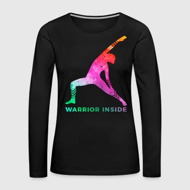 Chemo Breast Cancer Awareness Art For Warrior Women Dark Light - Women's Premium Long Sleeve T-Shirt