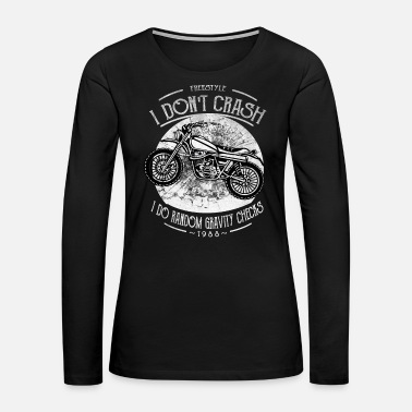 Worry Motocross - Random Gravity Checks - Women's Premium Long Sleeve T-Shirt