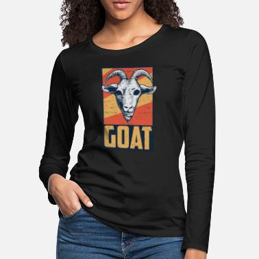 Tongue Goat farm milk mountain määh horns poking hoof - Women's Premium Longsleeve Shirt