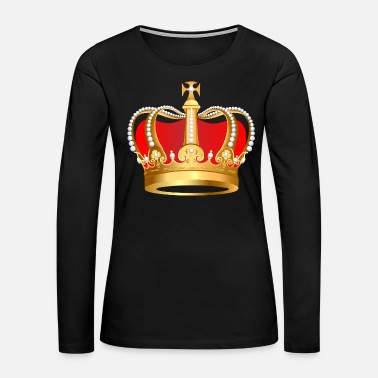 Crown King Gold crown Monach pearl VIP jewels - Women's Premium Long Sleeve T-Shirt