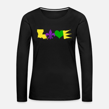 Louisiana Mardi Gras - Women's Premium Long Sleeve T-Shirt