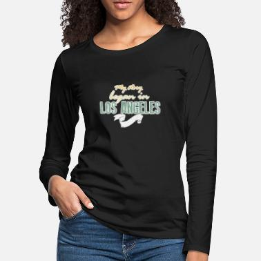 Los Angeles Los Angeles Lettering | LA California USA Home - Women's Premium Longsleeve Shirt