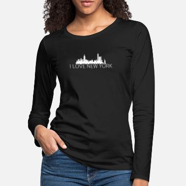 Deluxe NYC New York City Skyline Vintage Statue of Libert - Women's Premium Longsleeve Shirt