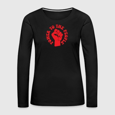 Black Lives Matter Power To The People, Red, Black Lives - Women's Premium Long Sleeve T-Shirt