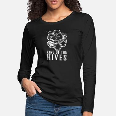 King Of The Hive Bee Beekeeper Honey Insect Gift - Women's Premium Longsleeve Shirt