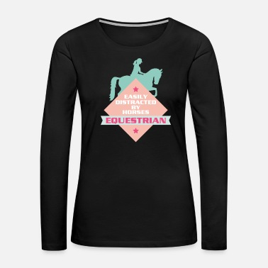 Horse Riding Horse Riding Horseriding Horses Sports Girls Gift - Women's Premium Long Sleeve T-Shirt