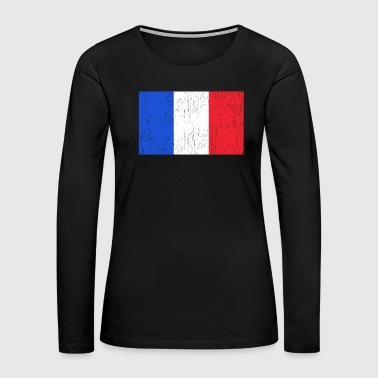Cheese French Flag France Gift Christmas Birthday - Women's Premium Long Sleeve T-Shirt