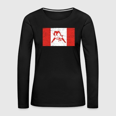 Moose Canada Hockey Gift Christmas Birthday Kids - Women's Premium Long Sleeve T-Shirt