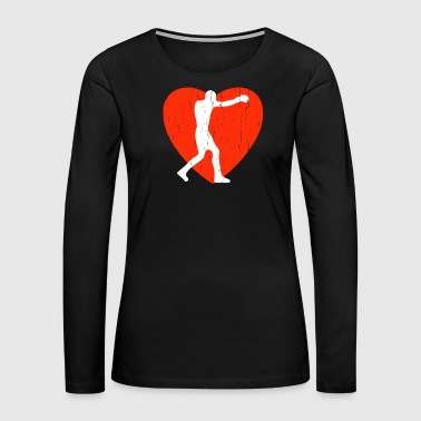 Silhouette Boxing - Women's Premium Long Sleeve T-Shirt