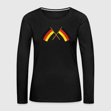 Summer Vacation Two crossed German Flags Gift Christmas - Women's Premium Long Sleeve T-Shirt
