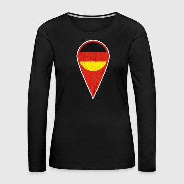 Baltic Sea German Spot Needle Gift Germany Symbol - Women's Premium Long Sleeve T-Shirt