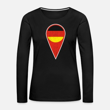 Landscape German Spot Needle Gift Germany Symbol - Women's Premium Long Sleeve T-Shirt