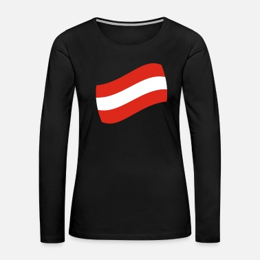 Culture Austria gift vacation flag map - Women's Premium Long Sleeve T-Shirt