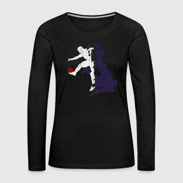 Island Rugby Player Gift Christmas Birthday GB - Women's Premium Long Sleeve T-Shirt