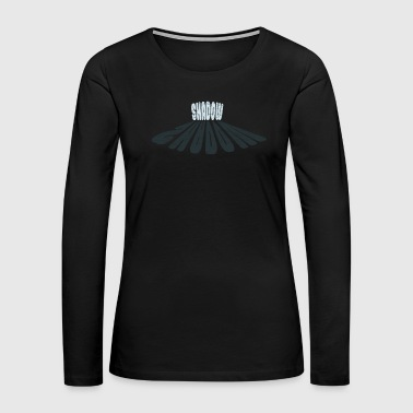 Journalist Shadow Typography Shirt Design gift - Women's Premium Long Sleeve T-Shirt