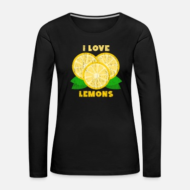 Seed I Love Lemons Christmas Gift Summer Birthday - Women's Premium Long Sleeve T-Shirt