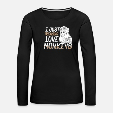 Squirrel Monkey Addict Animal Love Gift Idea Gift - Women's Premium Long Sleeve T-Shirt