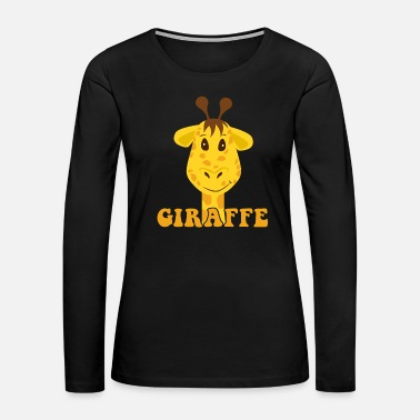 Birth Giraffe Kids Illustration Drawing Birthday gift - Women's Premium Long Sleeve T-Shirt