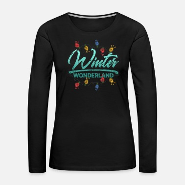 Penguin Winter wonderland gift kids - Women's Premium Long Sleeve T-Shirt
