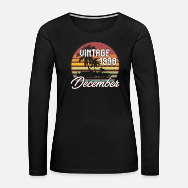 Old 20th Birthday Gifts Retro Vintage December 1998 - Women's Premium Long Sleeve T-Shirt