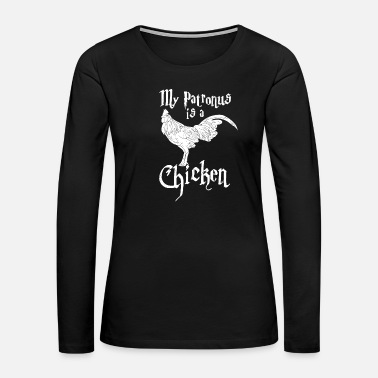 Rooster chicken patronus - Women's Premium Long Sleeve T-Shirt