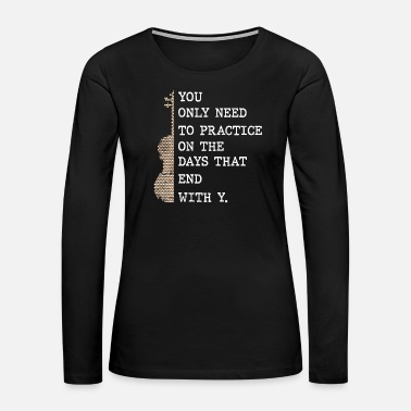 Playing Violinist Violin - Women's Premium Long Sleeve T-Shirt