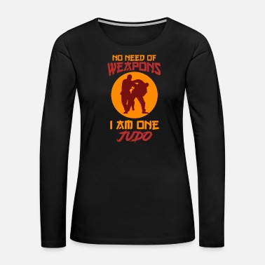 Kick Judo martial arts weapon fight gift - Women's Premium Long Sleeve T-Shirt