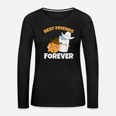 Soul Mate Cookie Biscuit Milk Best Friends Forever Gift - Women's Premium Long Sleeve T-Shirt