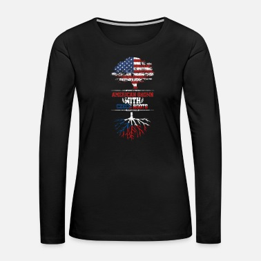 Washington D.c. Czech Republic America roots home love gift - Women's Premium Long Sleeve T-Shirt