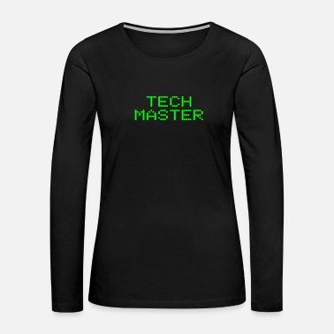 Old School Tech Master Funny Technology Geek Computer Nerd - Women's Premium Long Sleeve T-Shirt