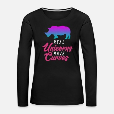 Mythology Unicorn curves - Women's Premium Long Sleeve T-Shirt