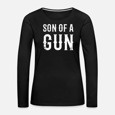 4f7caa08 Gun - Son Of A Gun. Matching Father Son Design Women's Premium T ...