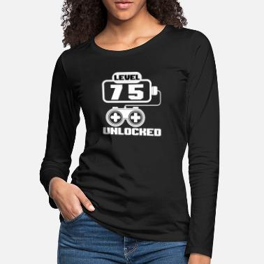 Unlocked Level 75 unlocked birthday - Women's Premium Longsleeve Shirt