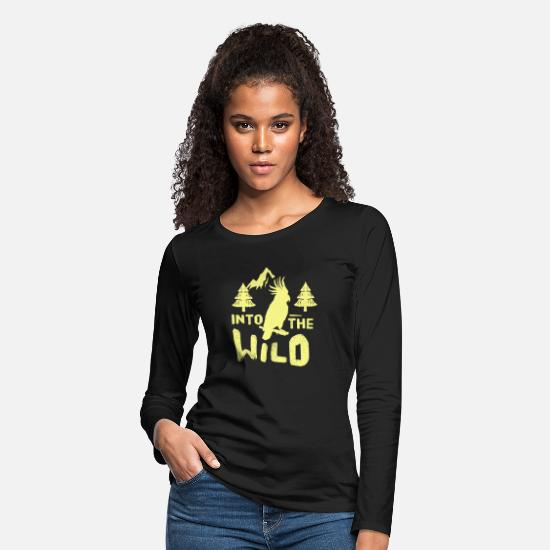 Wild Long-Sleeve Shirts - Into the wild, Gift, Gift Idea - Women's Premium Longsleeve Shirt black