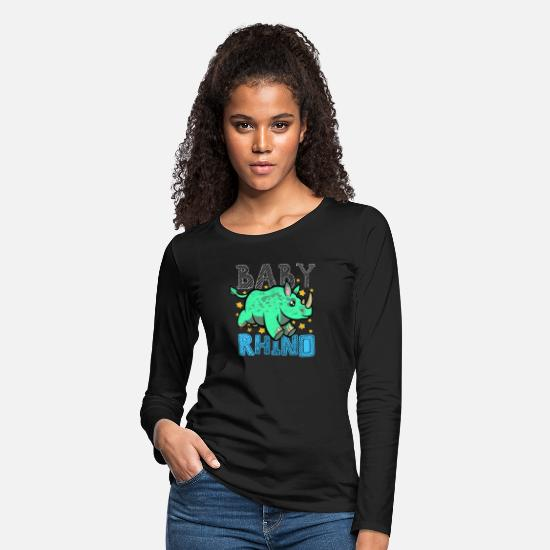 Animal Rights Activists Long-Sleeve Shirts - Safari Animal Rights Activists Rhino Lover Zoo - Women's Premium Longsleeve Shirt black