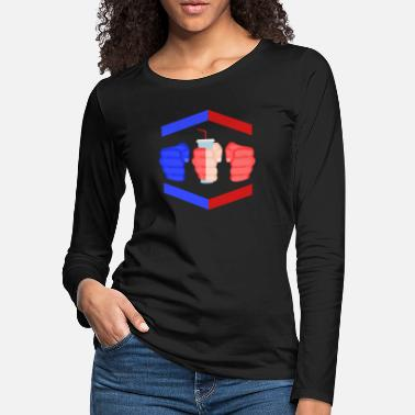 Gamebred Sticker 3 Piece And A Soda Cuban Gamebred MMA Fighter Fun - Women's Premium Longsleeve Shirt