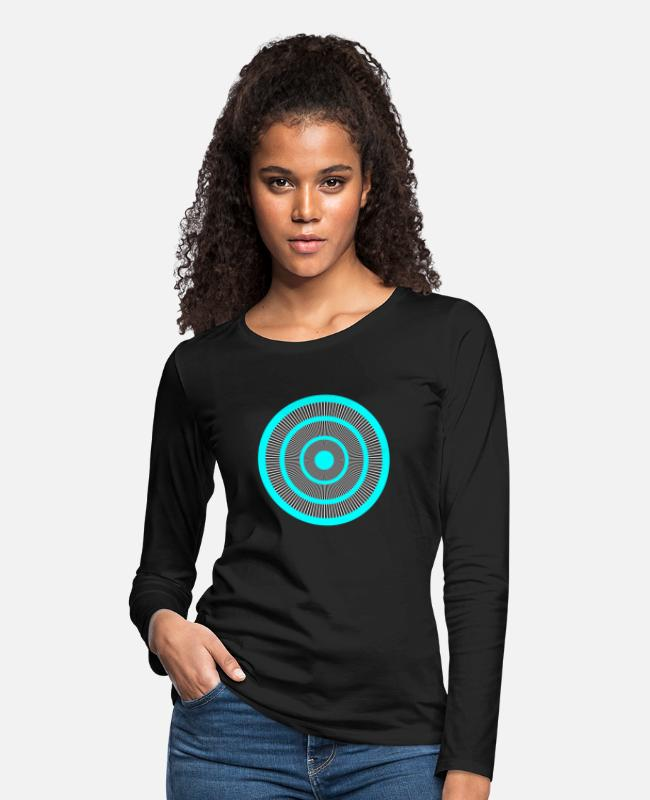 Uncle Long-Sleeved Shirts - Visual Perception Deception Ophthalmologist - Women's Premium Longsleeve Shirt black