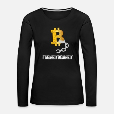 Depressed Bitcoin BTC - Freedom Unit - Women's Premium Long Sleeve T-Shirt