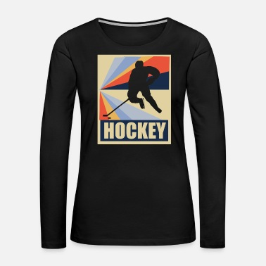 Skate Vintage retro hockey gift - Women's Premium Long Sleeve T-Shirt