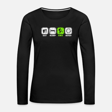 Oktoberfest BMX Christmas Birthday Gift Idea - Women's Premium Long Sleeve T-Shirt