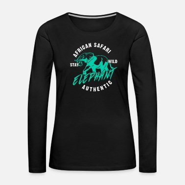 Zebra Safari animals - Women's Premium Long Sleeve T-Shirt