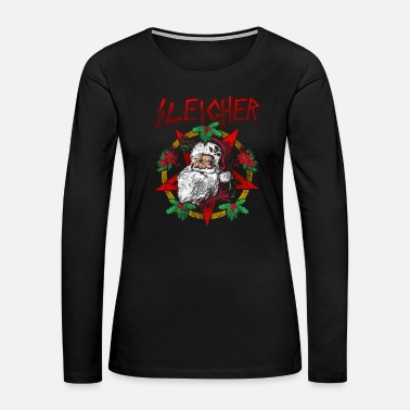 Satanic Sleigher | Santa Claus Christmas Heavy Metal Gift - Women's Premium Long Sleeve T-Shirt