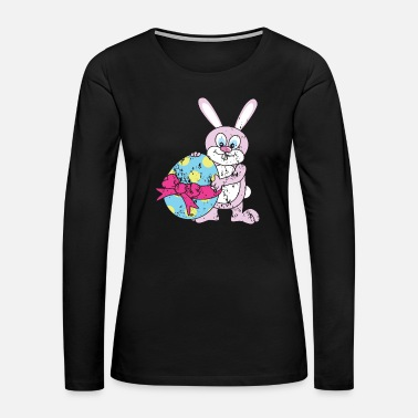 Bunny Retro Vintage Grunge Style Easter Bunny - Women's Premium Long Sleeve T-Shirt