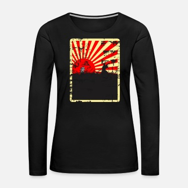 Rising Sun Rising Sun Samurai Distressed Design - Women's Premium Long Sleeve T-Shirt