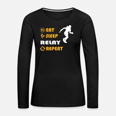 Sprinting Relay - gift for men and women - Women's Premium Long Sleeve T-Shirt