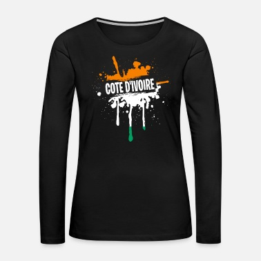 Germany Awesome Cote D'Ivoire Tshirt Men - Women's Premium Long Sleeve T-Shirt